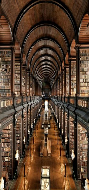 Trinity College Library - The University of Dublin, .. le coeur d'un Irlandais n'est autre que son imagination...