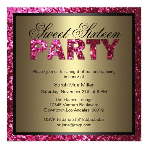 439 best Pink 16th Birthday Party Invitations images – Buy Birthday Invitations Online