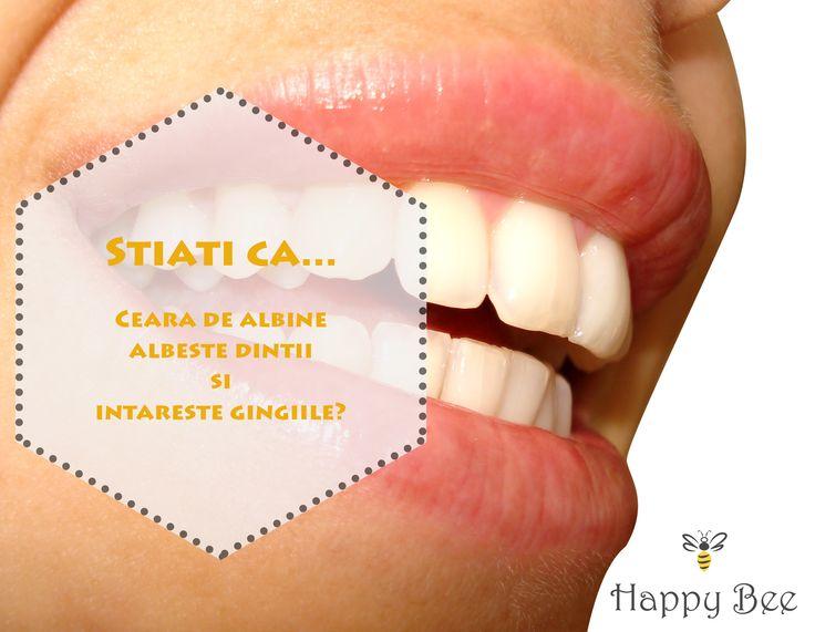 Stiati ca...  Ceara de albine albeste dintii si intareste gingiile? www.happybee.ro