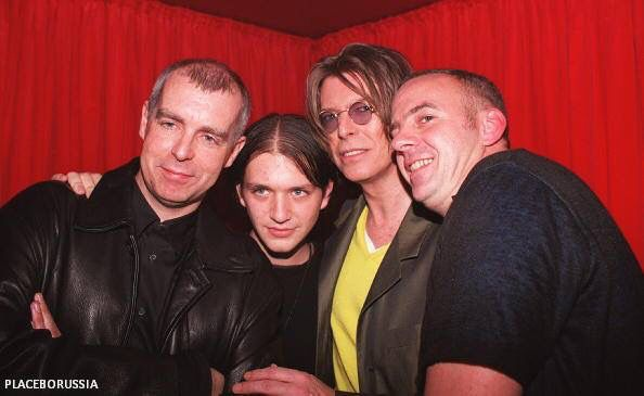 David Bowie, Norman Cook, Neil Tennant and 1 other
