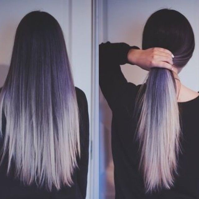 grey/silver/purple ombré. | Want more awesome hair? Follow us here --> http://www.pinterest.com/thevioletvixen/crazy-hair-times/