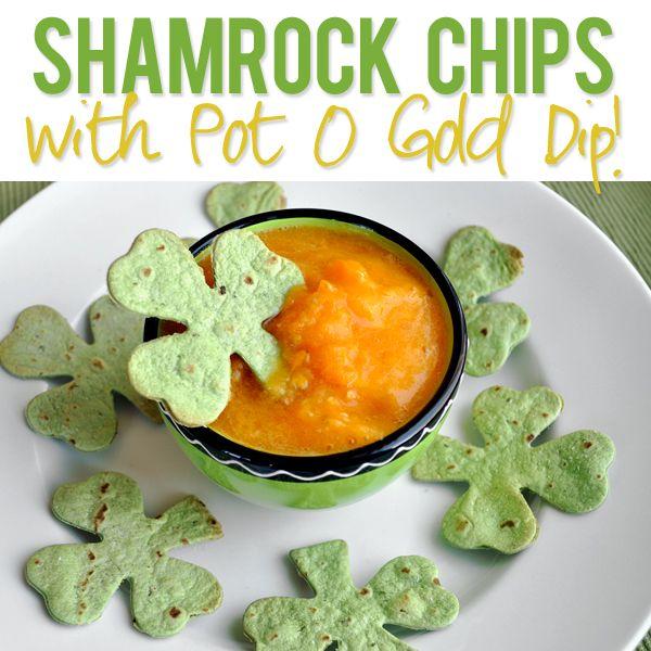 Shamrock Chips with Pot O Gold Dip