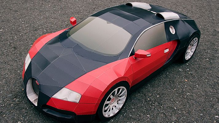 My favorite car: The Bugatti Veyron. Paper version.: Paper Supercraft, Papercraft Bugatti, De Papercraft, Veyron Papercraft, En Papercraft, Bugatti Veyron, Diy Bugatti, Paper Crafts, Paper Models
