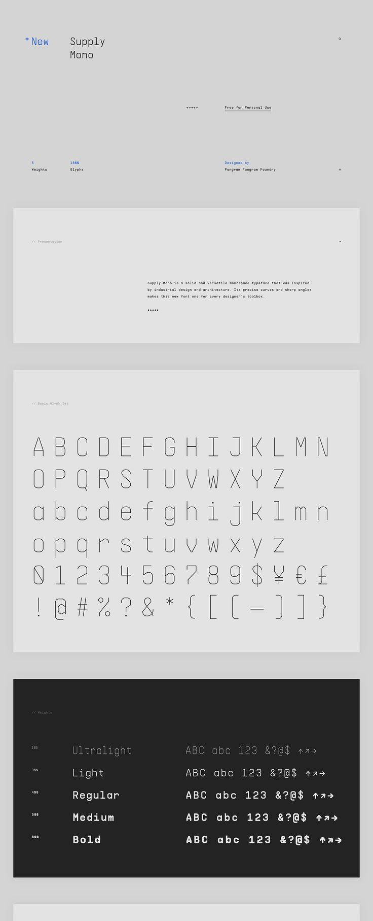 Fresh Free Font Of The Day : Supply Mono
