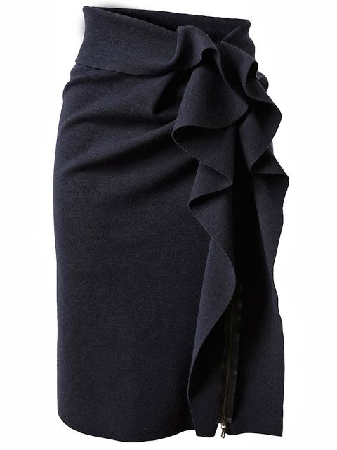 Adorable twisted black pencil skirt fashion style