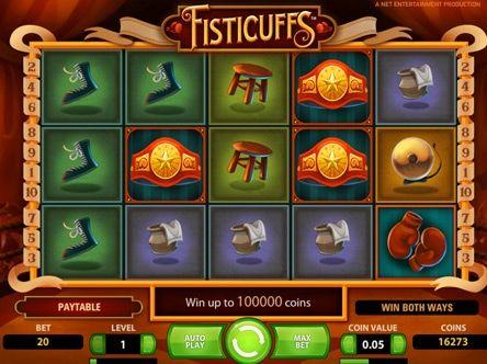 Игровые автоматы на деньги онлайн с выводом Fisticuffs.  На этот раз фирма-производитель NetEnt предлагает испытать удачу в кулачном бою на увлекательном игровом автомате Fisticuffs, который дает возможность в случае победы получить особо крупный вывод денег онлайн.