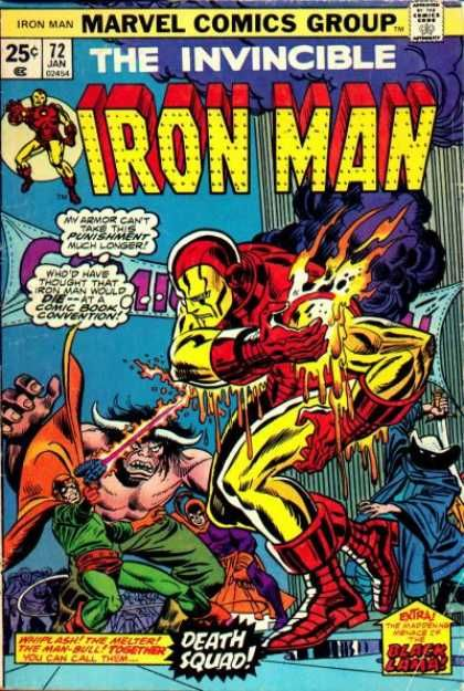 It's not cosplay: The real Iron Man is being zapped by the real Melter at the New York Comic-Con! (Michelinie did a boss sequel a decade later at a trade show.)