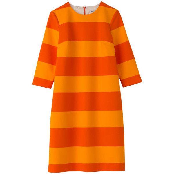 30 Wedding Guest Dresses Under $300 ❤ liked on Polyvore featuring dresses, floral design dresses, orange summer dresses, chiffon dress, flower pattern dress and orange floral dress