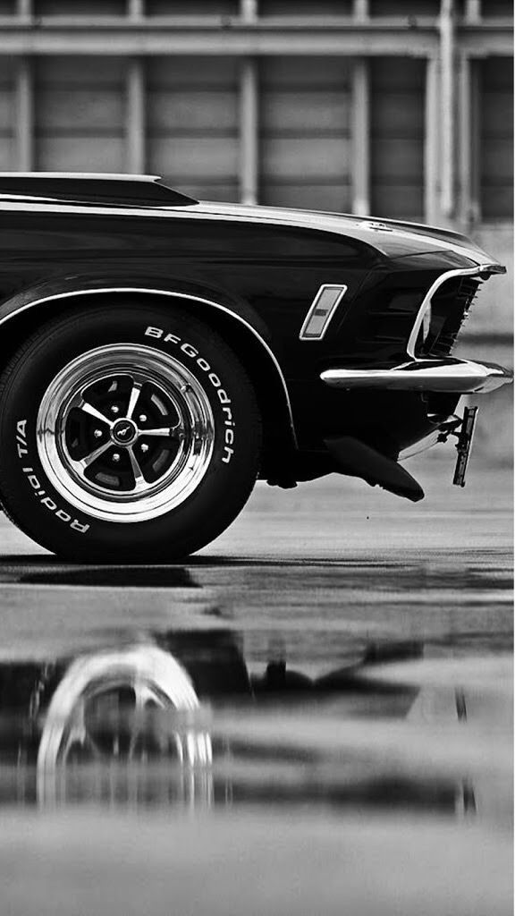 1970 Mach 1. Magnum 500 Räder. – Klassiche Ford Auto
