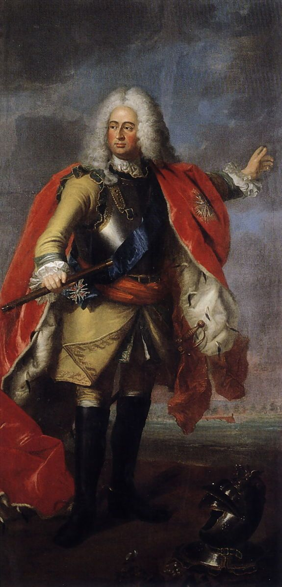 ca 1750.Wilhelm VIII, landgrave of Hessen-Kassel (1682-1760), painted for the Gouvernors Palace in Maastricht by Johann Valentin Tischbein,Museum collection of Schloss Fasanerie, Fulda, Germany.