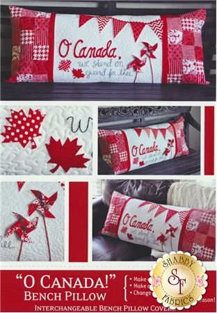 "O Canada! - Kimberbell Bench Pillow Pattern: The adorable ""O Canada"" interchangeable pillow cover by Kimberbell Designs is perfect for those of you that love Canada!"