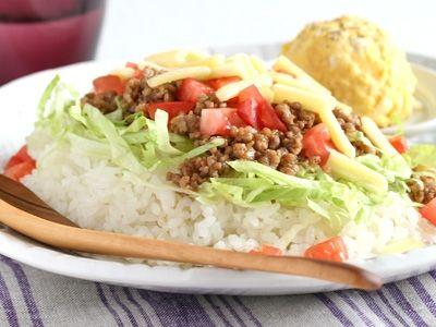 タコライス&ポテトサラダ