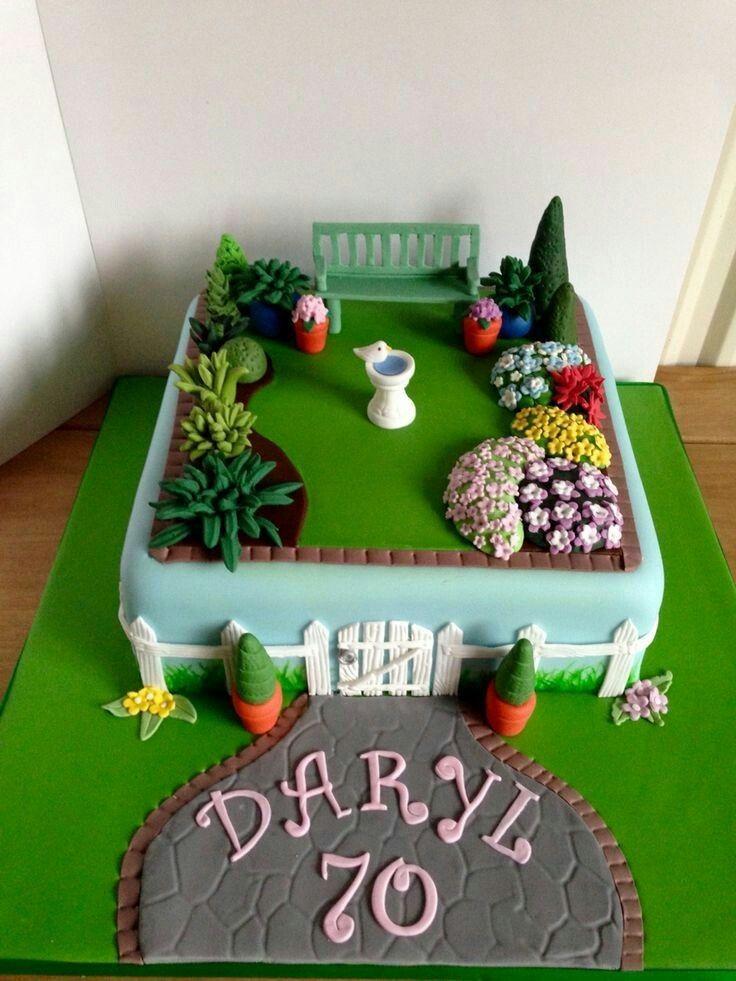 Pin Von Amalia Lonegro Auf Torty 70 Geburtstagskuchen 90 Geburtstag Kuchen Kuchen Gartenmotiv