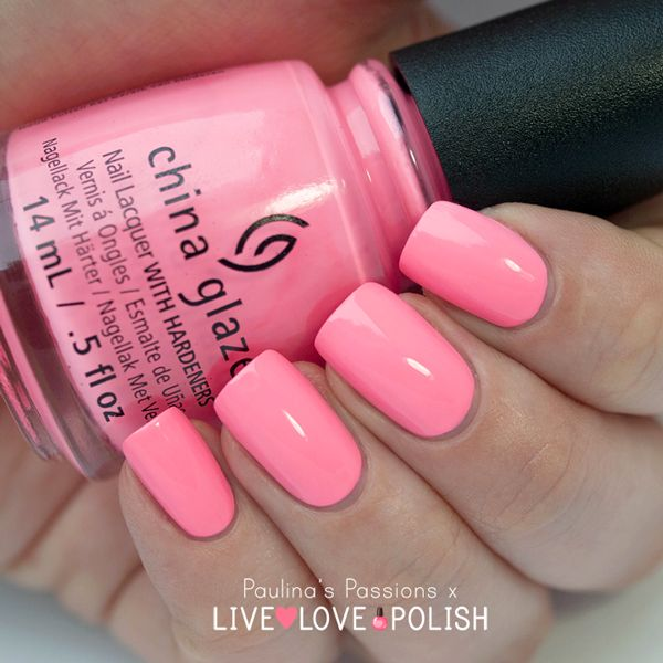 Fluorescent Neon Pink Nail Polish: China-Glaze-Shocking-Pink-Paulina's-Passions