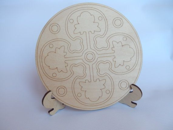 Laser Cut Wooden Mandala Plate for Adult Mandala Coloring.Decorative Mandala Plate.Mandala Art Therapy.Mandala Cutout.Easy Craft.m010-s