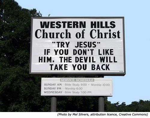 funny church quotes and sayings | ... Funny church signs from Western Hills Church of Christ. Hilarious
