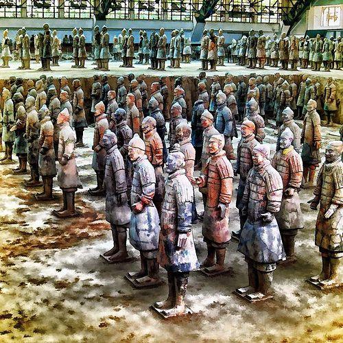Terra Cotta Warriors in Xian,China.....an amazing sight!