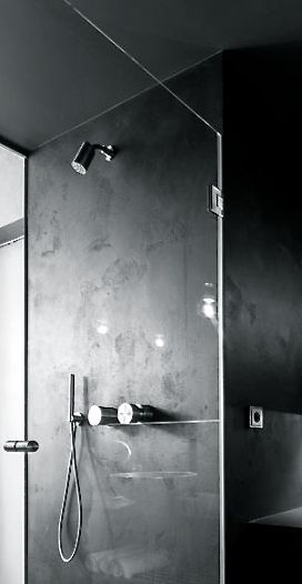 CEA Design shower mixer via inoxtaps.com     OOOOX Architects | Grey Loft | Prague, Czech Republic