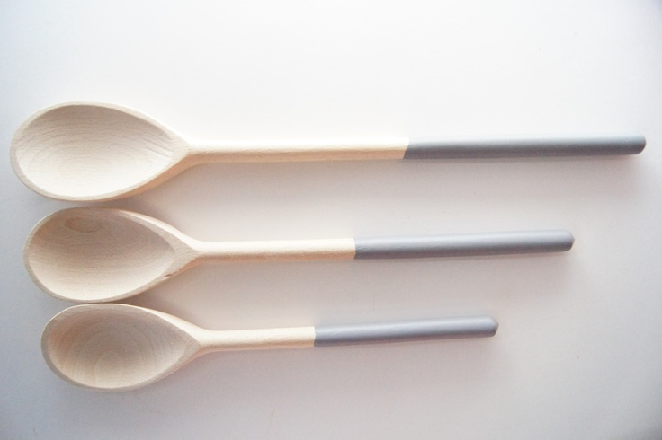 Image Of Soft Grey Wooden Spoons Set 3 Apartment