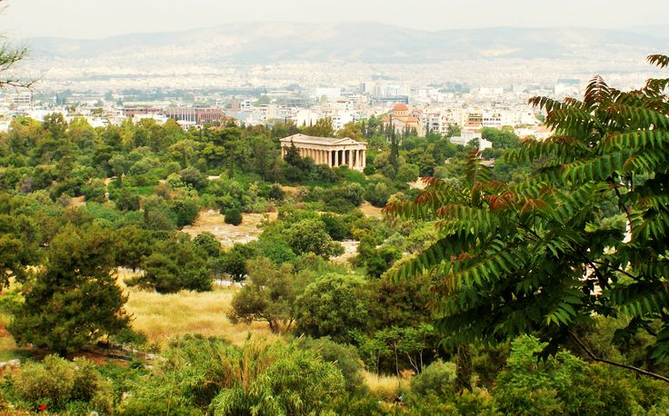The striking blend of the ancient and modern  in the Greek capital