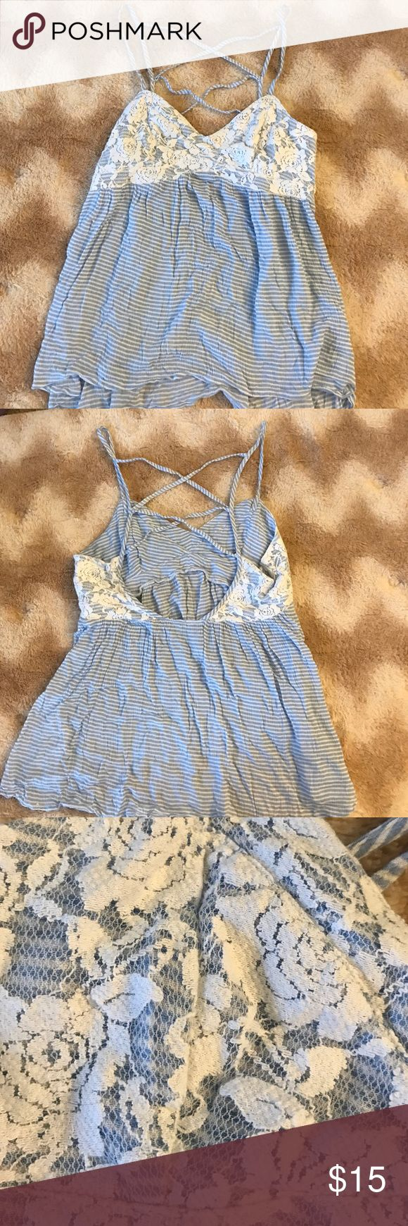 Striped Abercrombie & Fitch Strappy Tank Very Soft | Never Worn Abercrombie & Fitch Tops Tank Tops