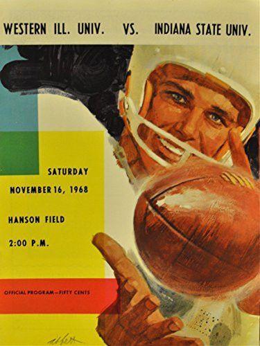 November 16, 1968 Western Illinois University Vs. Indiana State Football Program