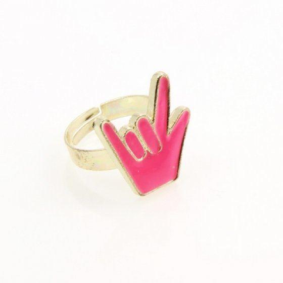 Gyűrű fém színes10/C