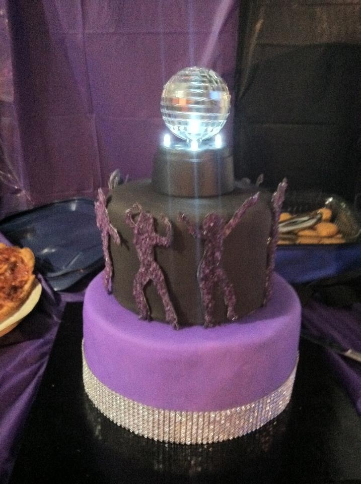 Disco Party Cake Images : Dance Party Cake with Disco Ball! Cake (Dance) Examples ...