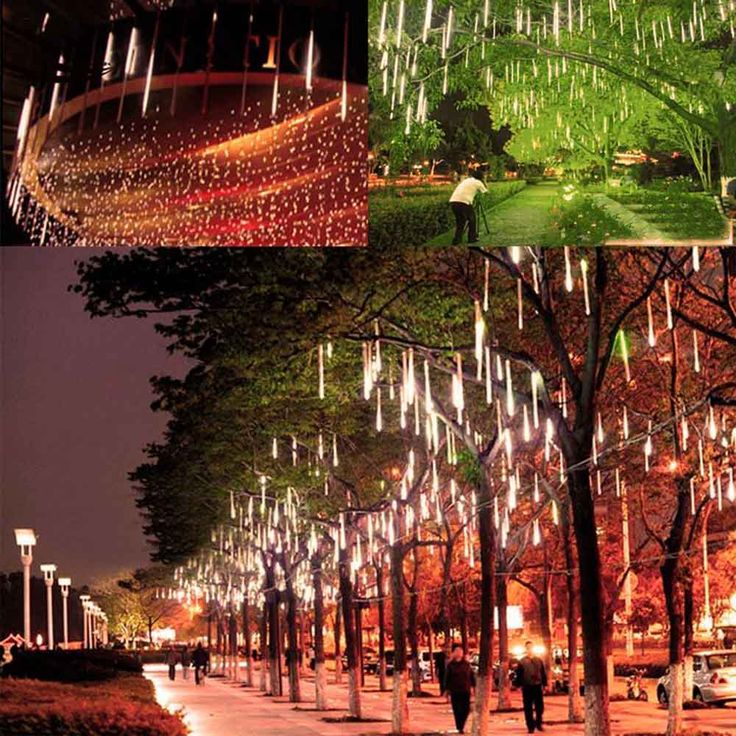 ==> [Free Shipping] Buy Best Multi-color 30CM SMD2835 Meteor Shower Rain Tubes AC100-240V LED Christmas Lights Wedding Party Garden Xmas String Light Outdoor Online with LOWEST Price | 32799924931