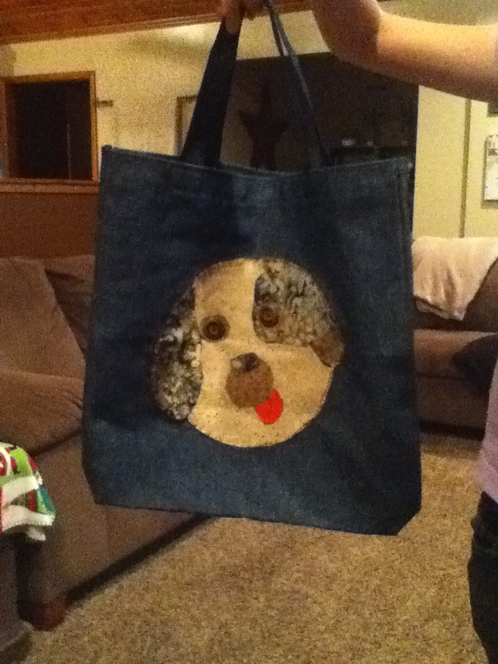 Puppy patch tote