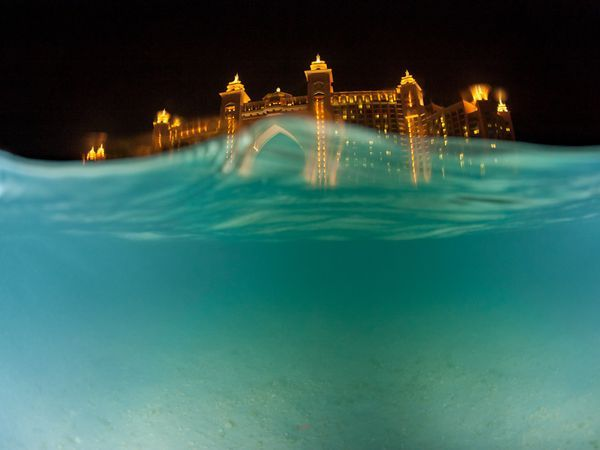 An underwater view of a resort in Dubai..  (c)-NG