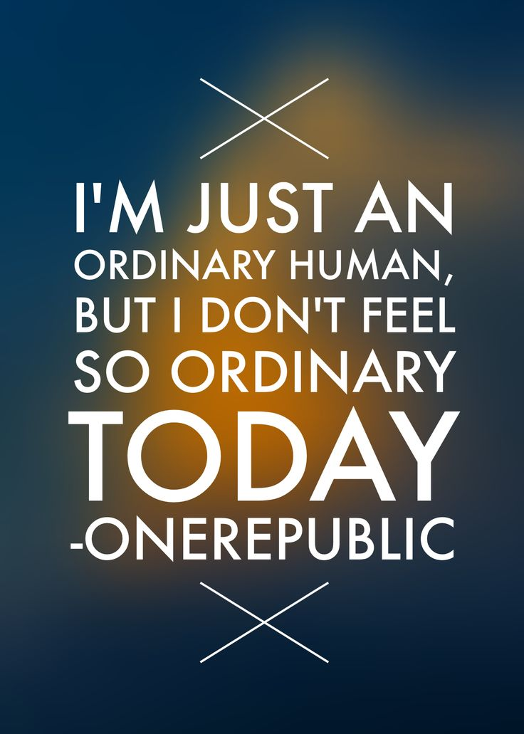 OneRepublic. Ordinary Human. #lyrics