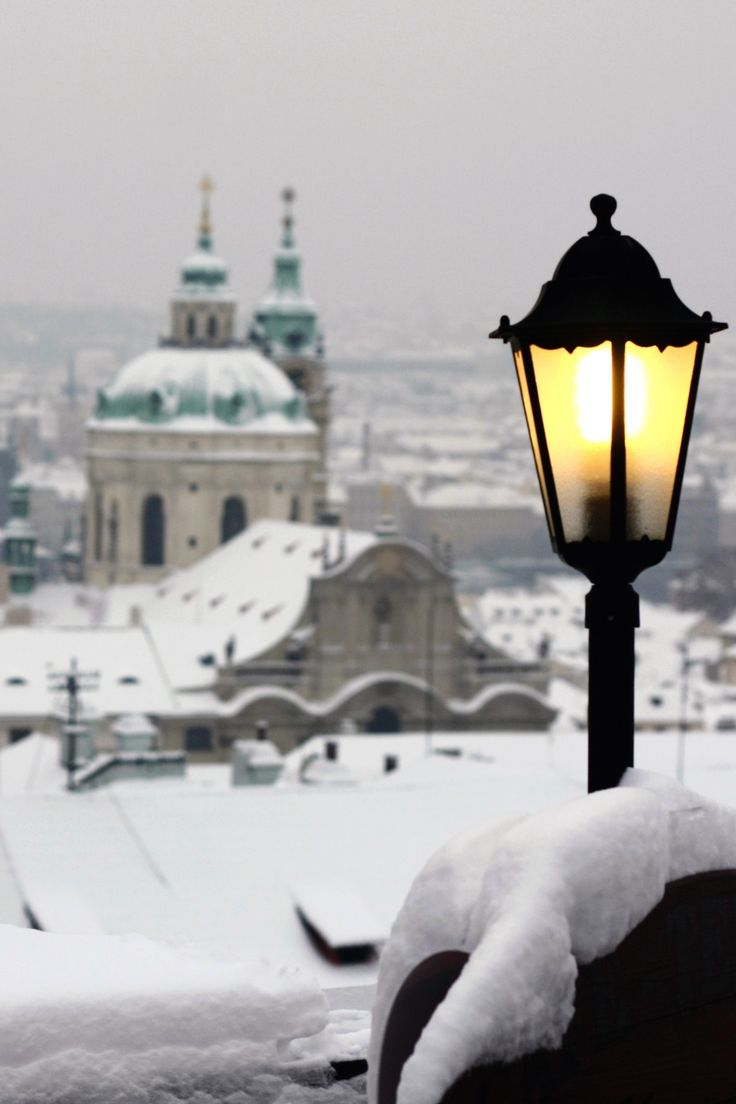 "packlight-travelfar: ""Snowy view, Prague by Florin Draghici on Flickr. """