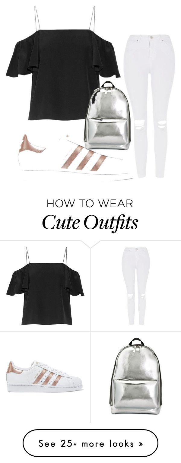 """Cute first day of high school outfit"" by esan5414 on Polyvore featuring Fendi, Topshop, adidas Originals and 3.1 Phillip Lim"