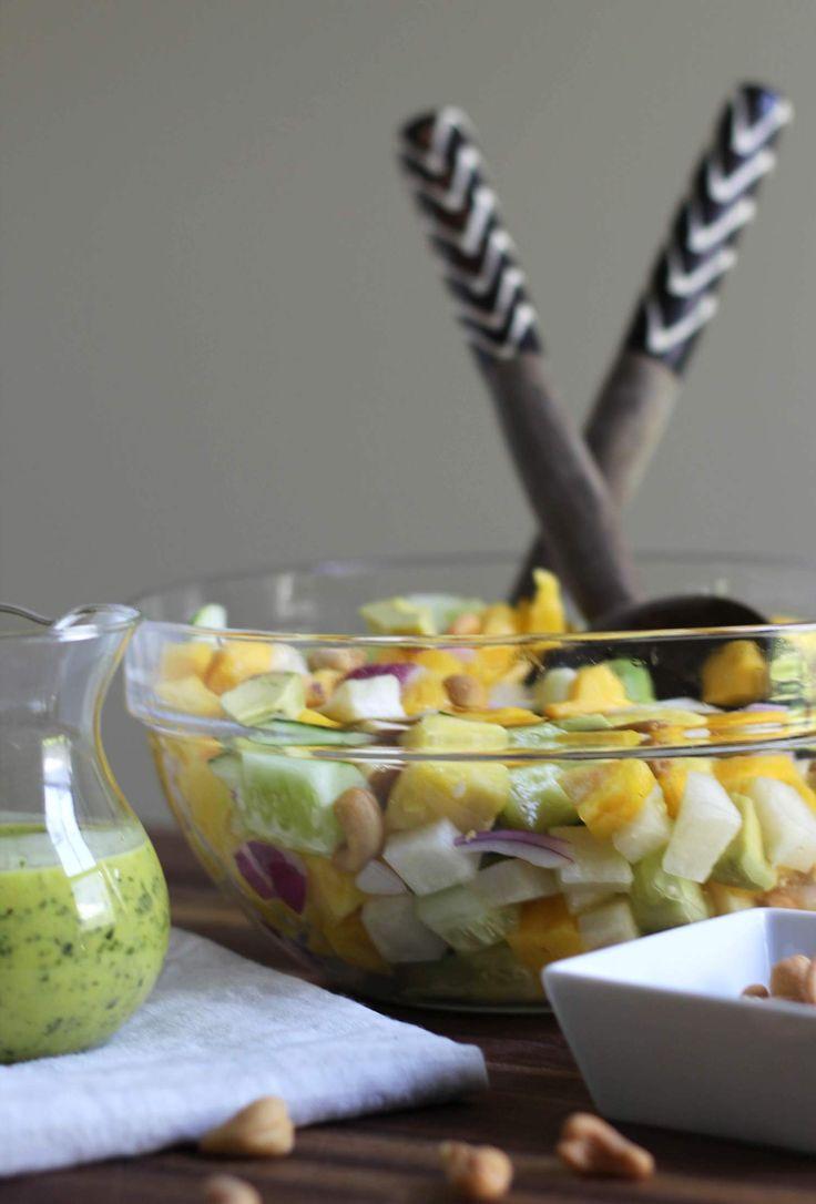 Thai salad with a kaffir lime and mango vinaigrette