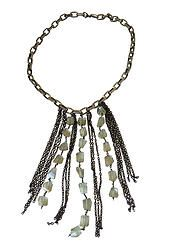 Cascade Necklace with Green Amethyst