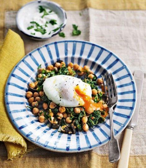 Poached-eggs-with-harissa-chickpeas-and-garlic-yogurt