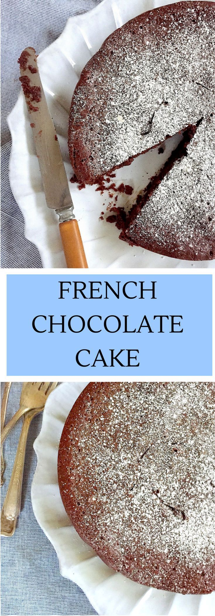Almost Flourless Chocolate Cake. A dense, dark chocolate special occasion cake (perfect for Valentine's Day) that is easy to make and gluten-free friendly.