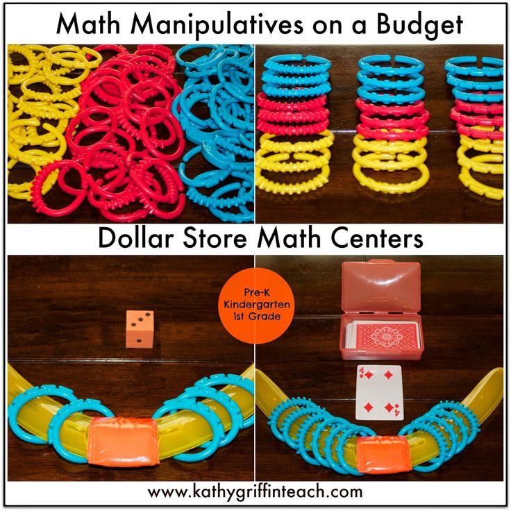 Lots of fun Dollar Store math ideas that teach multiple math skills.