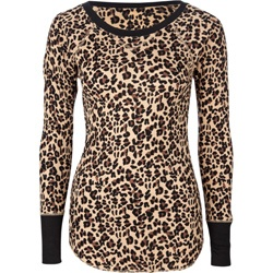 love the cheetah print thermal look