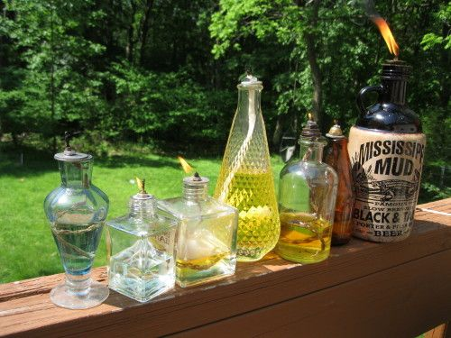 Tiki Torches from Old Glass Bottles