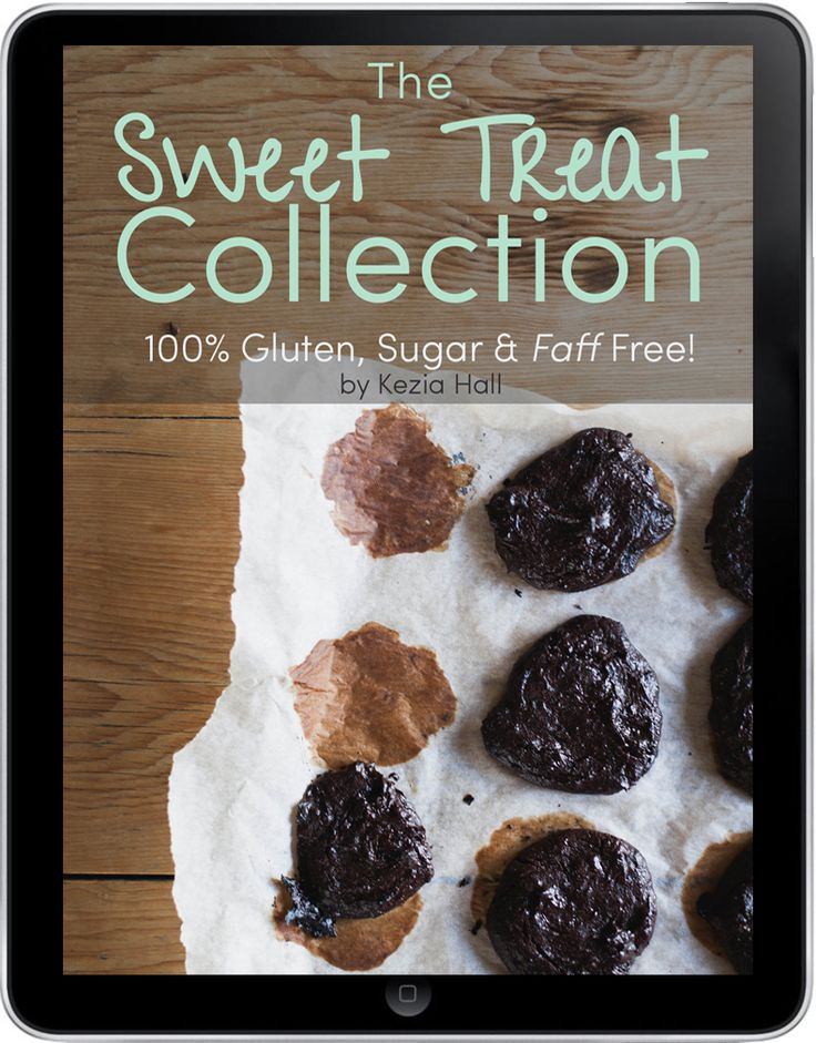 The simple solution to your {naughty} food cravings.  Get this instant, downloadable, eBook with over 25+ gluten & sugar recipes.  Make sure you enter the correct email address as the ebook will be emailed to you.  (Note you don't need a paypal account to sign up –just click the pay with debit or credit card option)