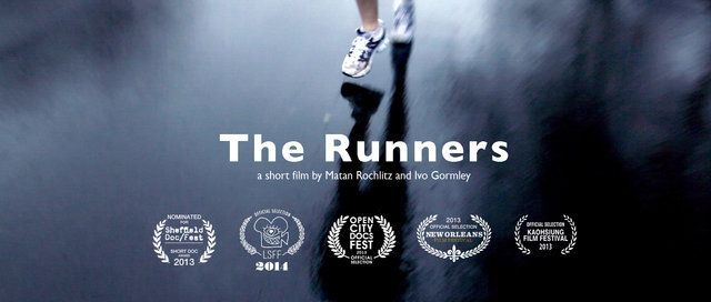 The Runners film: Pounding the tarmac through the seasons, a band of runners are brazenly challenged with intimate questions as they pace their routes. Liberated from responsibilities, their guards drop dramatically, releasing funny and brutally frank confessions, and weaving a powerful narrative behind the anonymous masses.