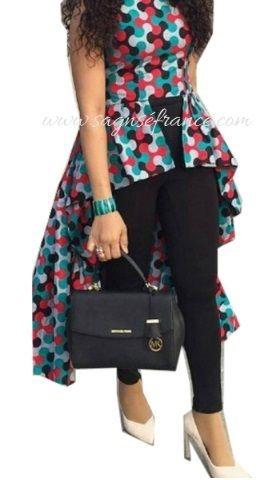 Tenue Wax moderne : Mode Africaine - Tenue Wax et Dashiki sur le site de la mode africaine en France : Sagnse france - wax pas cher