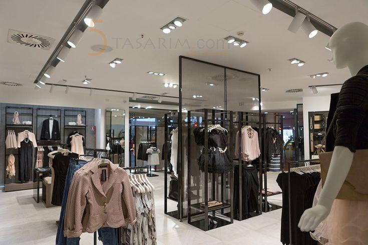 mağaza metal orta standları