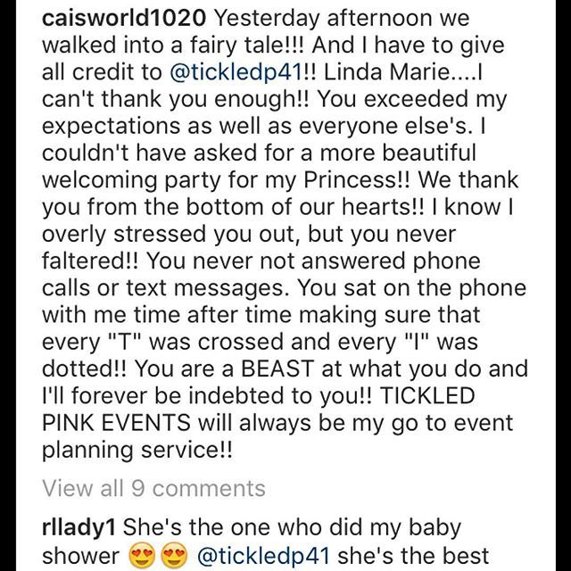 """""""This is what I live for!!! A satisfied client, I couldn't have done it without the best assistant in the world @tpes_ericka thanks for keeping me calm, you know my nerves be so bad. @caisworld1020 thanks for trusting me with your event #ilovewhatido #diddy #photography #eventplanner #decor #babyshower #philly #weddingplanner #girls #teamlove #designer #parties"""" by @tickledp41.  #bride #weddingday #weddingdress #weddingphotography #bridal #weddinginspiration #weddingphotographer #groom…"""
