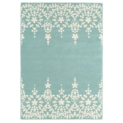 Debenhams Blue wool 'Guild' rug- at Debenhams.com