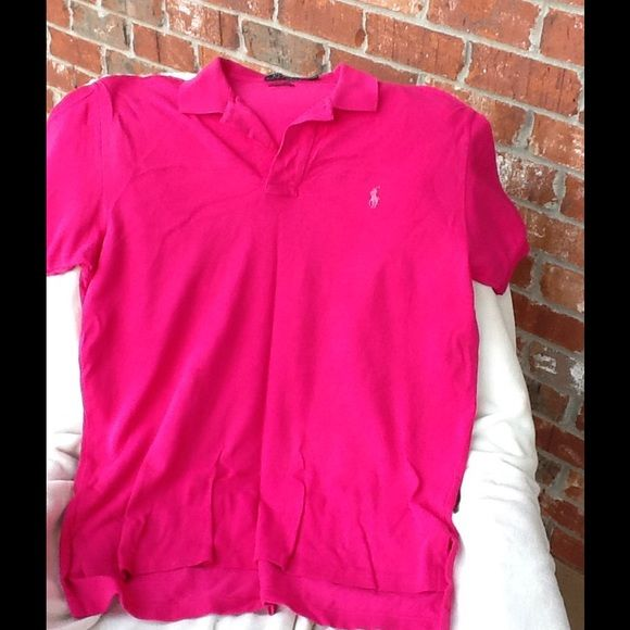 Shop Men's Polo by Ralph Lauren Pink Blue size L Polos at a discounted price at Poshmark. Description: Polo Ralph Lauren men's lg shirts. Bought new washed and then too lg for son. Sold by labelmogur. Fast delivery, full service customer support.