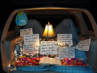 Your word is a lamp unto my feet and a Light unto my path - Bible/Church Trunk or Treat idea