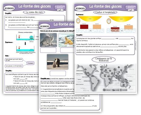 Sciences cycle 3 : Le réchauffement climatique